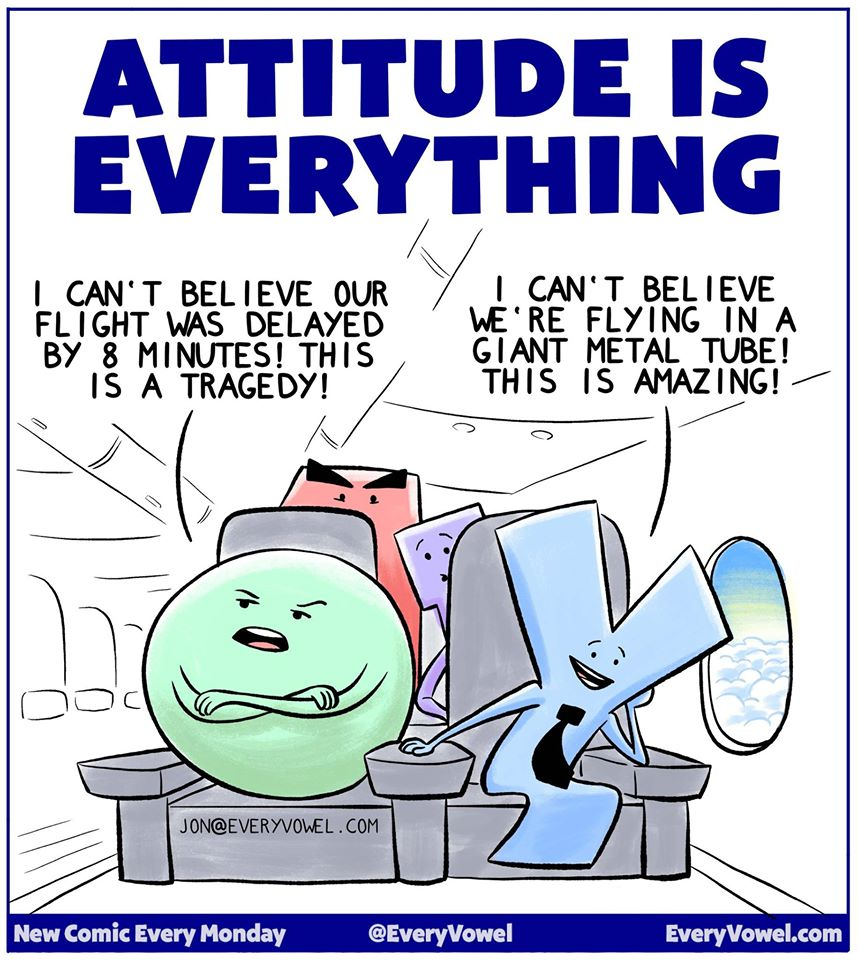 attitude is everything Attitude studies one way of helping us to appreciate people's views about our  work and our science is through large-scale public attitude studies.